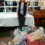Dropping off toys at Domestic Violence Center Party.