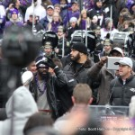 John Harbaugh had a few parting words before everyone left the stage.
