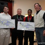Zeke with our Formula 4 Success Scholarship Award winners - Nicholas Crabill (Glenelg) and Trevon Jacks (Wilde Lake)