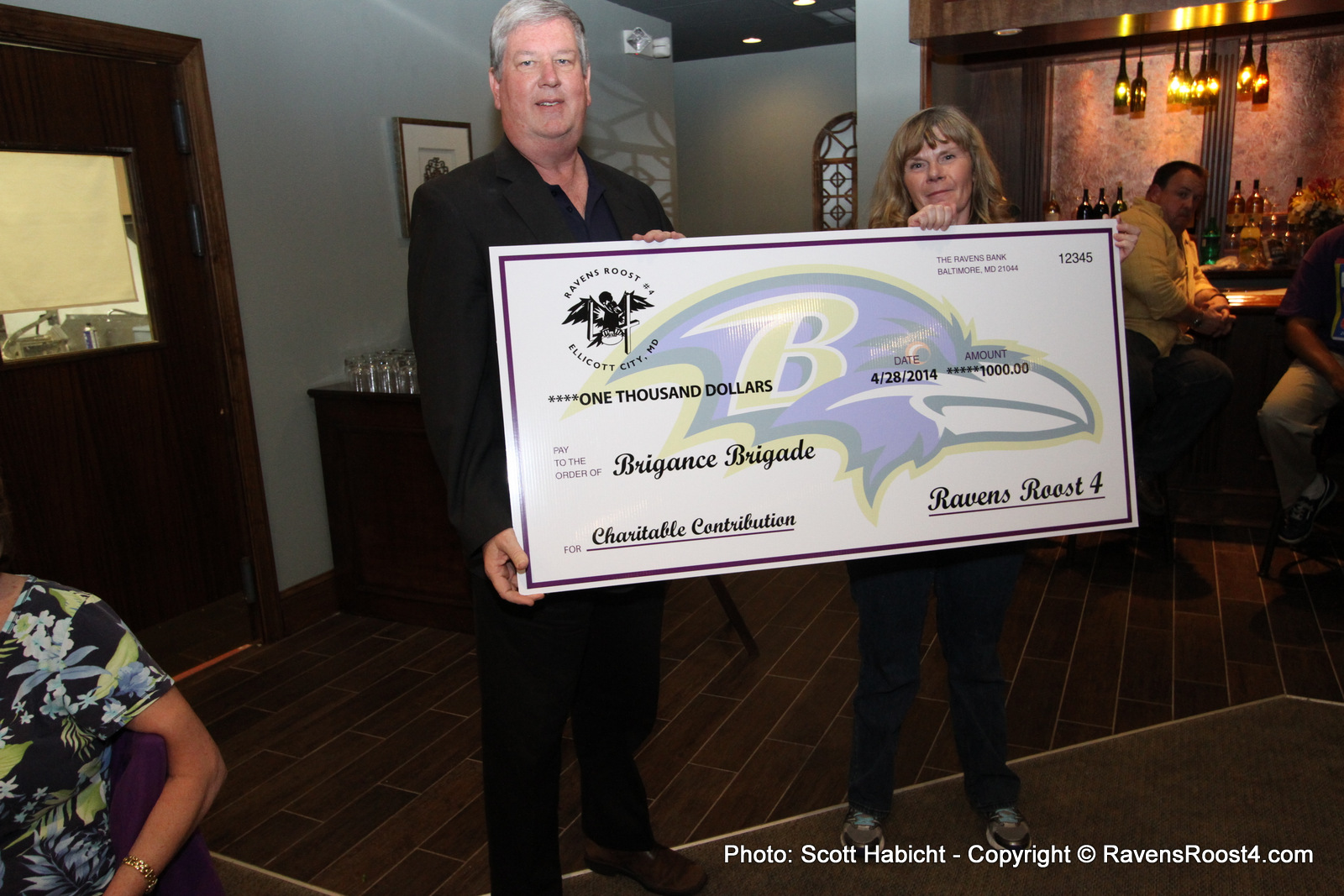 Ravens Roost #4 Donates to Two Charities